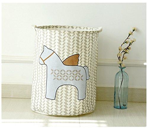Creative Foldable Linen Storage Box  Debris Finishing  Clothes Storage Bag Horse