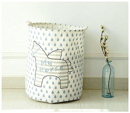 Creative Foldable Linen Storage Box  Debris Finishing  Clothes Storage Bag MY HORSE