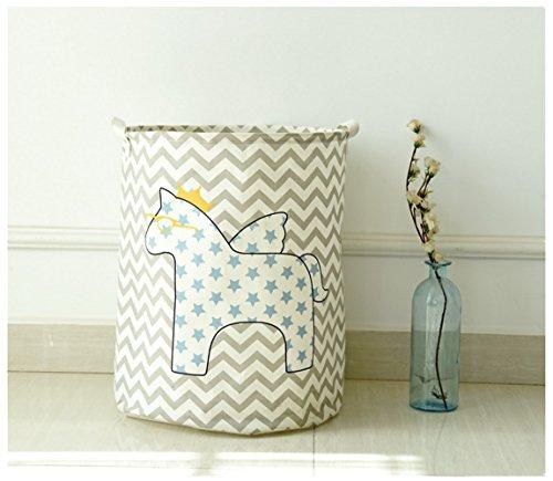 Creative Foldable Linen Storage Box  Debris Finishing  Clothes Storage Bag Star Horse
