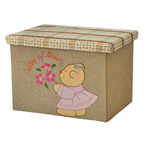 RayLineDo 2X39L Foldable Linen Storage Box Bag Clothes Blanket Closet Sweater Organizer Cartoon Design Home Docor Box