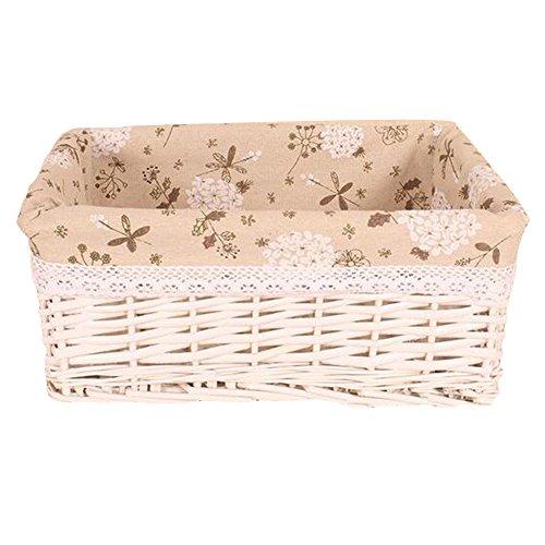Elegant libra Willow Wicker Storage Basket with Liner Utility Nursery Baskets Organize Decorative Storage Bins for Home and Office