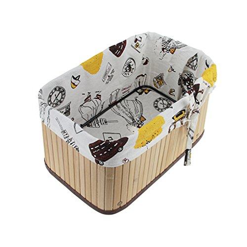 FakeFace Handmade Foldable Wicker Storage Basket with Liner Home Office Kitchen Desktop Closet Nursery Toys Books Tidy Tray Organizer Bin Bedroom Bathroom Toiletries Laundry Storage Tote Hamper Gift