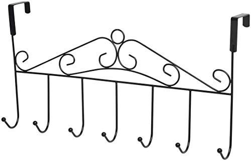 Over The Door Wreath Hook Bronze - Oil Rubbed Bronze Over The Door Hooks - Oil Rubbed Bronze Over Door Hook - Bronze Over The Door Hook - Oil Rubbed Bronze Door Hook - Coat Rack Bronze 7 Hooks