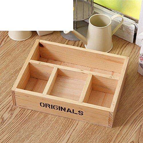 Creative desktop storage boxes stylish storage boxesCosmetic boxSundry small wooden boxshelf -A
