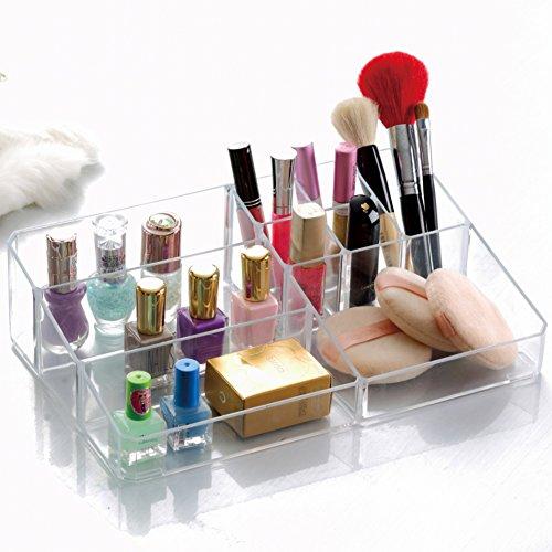 Large cosmetic Organizer transparent storage boxCosmetic boxCreative desktop storage boxes stylish storage boxes-D