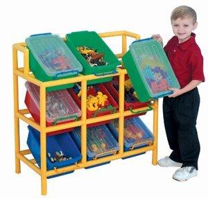9 Cubby Bin Tilt Storage
