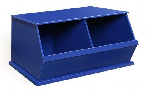 Badger Baskets 09771 Two Bin Storage CubbyBlue