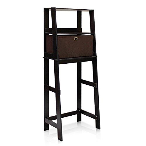 Furinno 13059EXDBR Econ Bathroom Space Saver Storage Shelf with Bins EspressoDark Brown