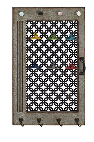 Benzara Uniquely Classic Wood Metal Wall Hook