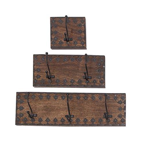 Deco 79 14440 Wood Metal Wall Hook S3 18 12 6