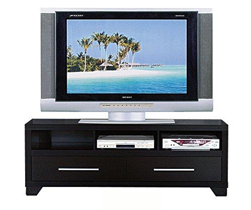 27062TV 60 Black Smart Home Entertainment Storage Center TV Stand