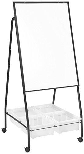 Best-Rite Storage Wheasel Mobile Easel Storage Center Melamine Dry Erase Surface 762