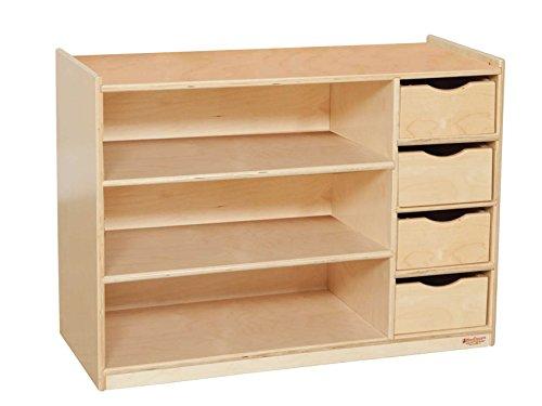 Wood Designs WD14475 Storage Center with Drawers 26 x 36 x 15 H x W x D