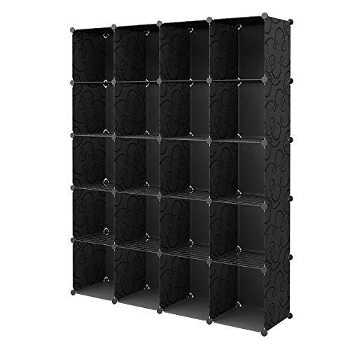 KOUSI Portable Storage Cubes-14 x14Load-Bearing Metal Panel Modular Bookshelf UnitsClothes Storage ShelvesRoom Organizer