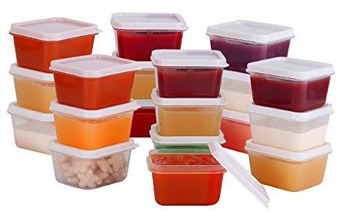 Greenco Mini Food Storage Containers Condiment and Sauce Containers Baby Food Storage and Lunch Boxes Leak-resistant 23 oz Each 20 count