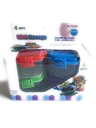 Mini-Storage Containers set of 4 BPA FREE