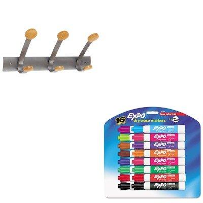 KITABAPMV3SAN81045 - Value Kit - Alba Wooden Coat Hook ABAPMV3 and Expo Low Odor Dry Erase Markers SAN81045