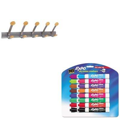 KITABAPMV5SAN81045 - Value Kit - Alba Wooden Coat Hook ABAPMV5 and Expo Low Odor Dry Erase Markers SAN81045