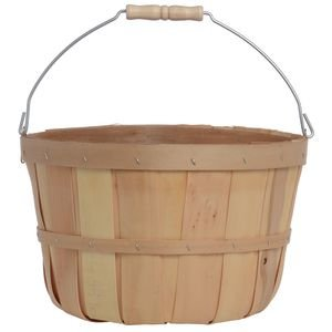 Texas Basket Co Natural Half Peck Basket with Handle