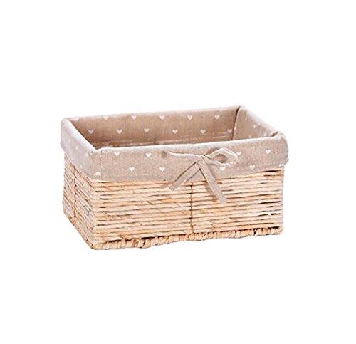 Straw Baskets Debris Storage Box Toy Basket-Primary Color
