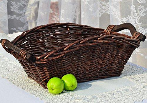 Wicker Neatening Fruit Basket Handmade Storage Food Bread Box Willow Bread Bins Woven Straw Basket Chocolate