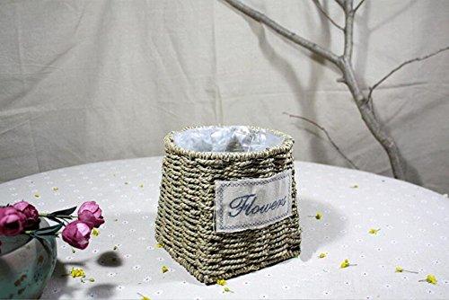 ZZ Portable basketsbaskethand-woven wicker basketflower arrangement flower pots  2