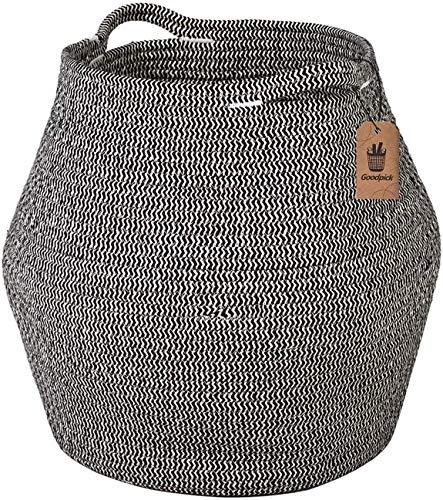 Goodpick Cotton Rope Storage Basket Woven Baby Laundry Basket for Storage Plant Pot Beach Bag and Kids Toys Home Decor Blanket Basket Planter Basket161 × 149 × 118