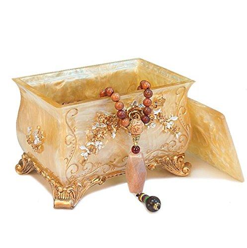 YZL Jewelry box a covered storage box resin cosmetic boxes storage boxes desktop sort box  1