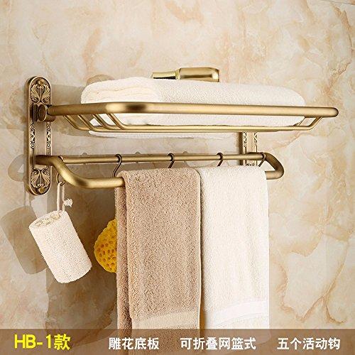 Antique Bathroom shelf fold shower bathroom racks Metal hanging copper brushed towel rack model 1