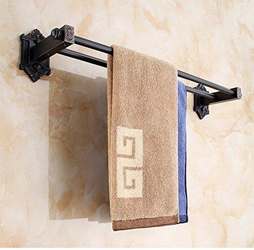 Black Antique Bathroom shelf shower punch wall towel rail-Bathroom Metal Hanger