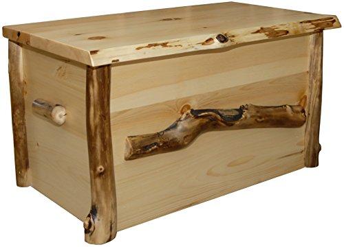Furniture Barn USA Rustic Aspen Log Blanket Chest