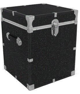 Mercury Luggage Seward Trunk 20 Footlocker Black - Storage Chest Cabinet Organizer Bedroom Furniture Table Multifunctional