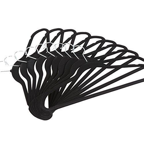 Velvet Hangers Ultra Thin Non Slip Suit Hangers Black 50 Pack US STOCK