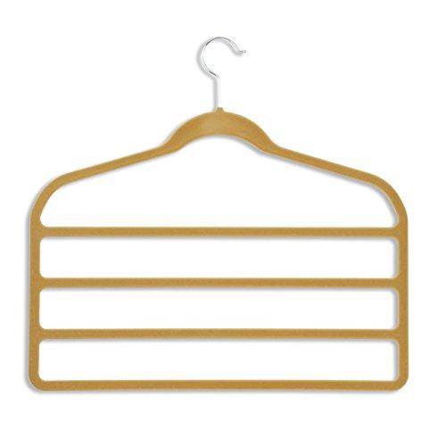 Honey-Can-Do HNG-01943 Ultra Thin Non-Slip Velvet Hangers 2-Pack Tan