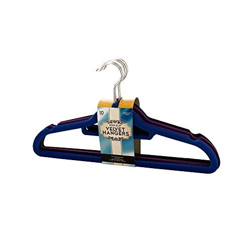 Kole Imports OF633 Non-Slip Velvet Hangers