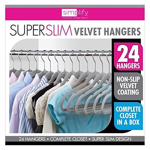 Velvet Shirt Hanger  Grey - 24 Pack