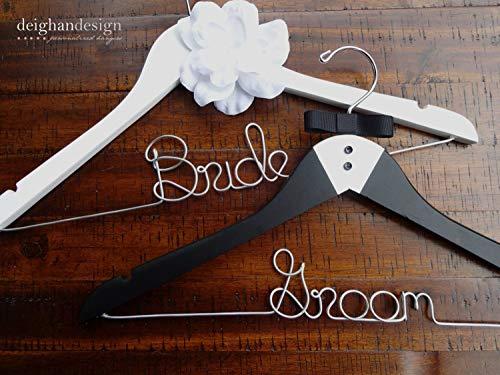 Encounter168 Bride and Groom Hangers Wedding Hangers Couples Gift Hanger Bridal Hanger Engagement Gift Bridal Shower Gift Groom Gift