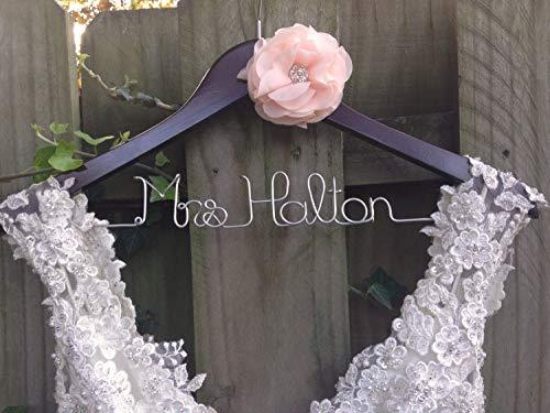 Encounter168 Wedding Dress Hanger Bride Hanger Bridal Hanger Personalized Hanger Custom Bride Gift Unique Bridal Shower Gift Engagement Gift