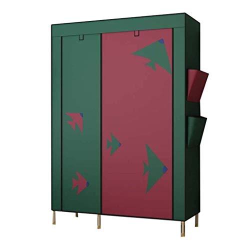 TYUIO Clothes Closet Portable Wardrobe Durable Clothes Storage Organizer Non-Woven Fabric Cloth Storage Shelf with Hanging Rod and Shelves for Extra Storage(190cmx130cmx50cm) Color  Colour A