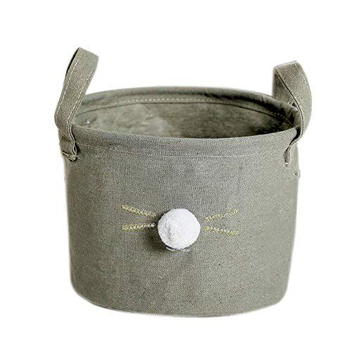 meigoods Foldable Laundry Basket Fabric Clothes Storage Bag Home Bathroom Organizer Bin Gray