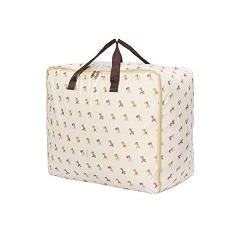 Fieans Foldable Storage Bag Clothes Blanket Closet Sweater Organizer Box Cloth Organizer-White