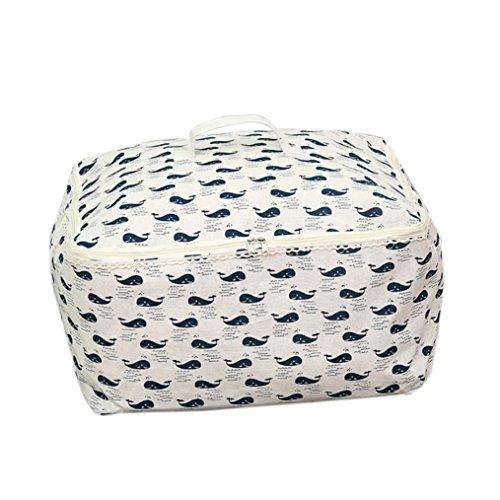 Transer Foldable Storage Bag Clothes Blanket Quilt Closet Sweater Organizer Box Pouches D
