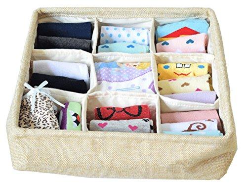 NIMES Foldable Storage Box Underwear Socks Drawer Divider Closet Organizer