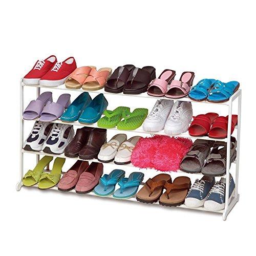 20 Pair 4 Tiers Home Portable Closet Storage Organizer Cabinet Shelf Shoe Rack