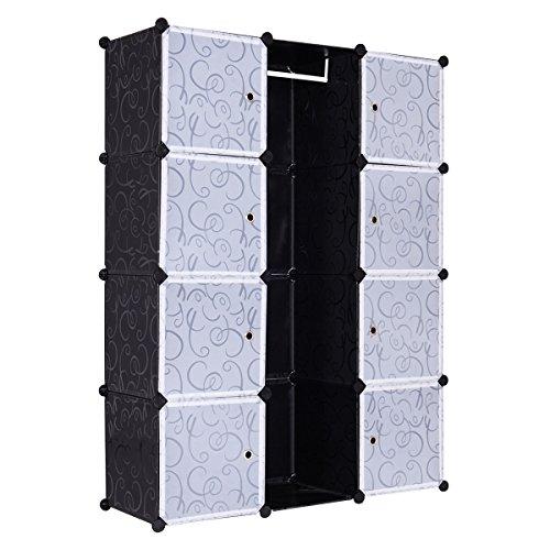 DIY 12 Cube Portable Closet Storage Organizer Clothes Wardrobe Cabinet WDoorsNew