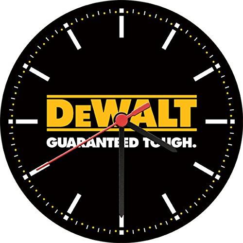 DeWalt Guaranteed Tough Logo Power Tools Wall Clock