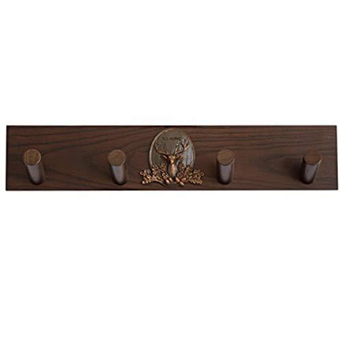 4 Hook Coat Rack Wall MountedSimple Solid Wood Walunt Coat Hangers Entryway Furniture Storage Hooks