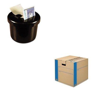 KITFEL0062801LEE40100 - Value Kit - Bankers Box SmoothMove MovingStorage Box FEL0062801 and Lee Ultimate Stamp Dispenser LEE40100
