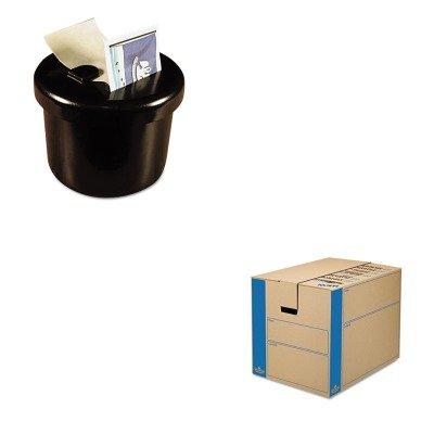 KITFEL0062901LEE40100 - Value Kit - Bankers Box SmoothMove MovingStorage Box FEL0062901 and Lee Ultimate Stamp Dispenser LEE40100
