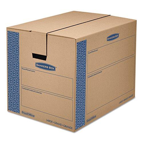 SmoothMove Moving Storage Box Extra Strength Large 18w x 24d x 18h Kraft